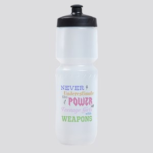 Colorguard - Never Underestimate Sports Bottle