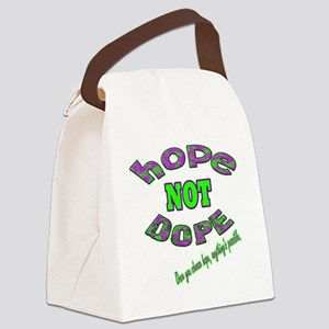 Hope not dope (Green Yellow) Canvas Lunch Bag