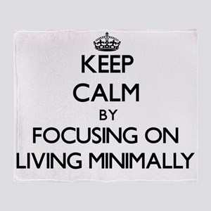 Keep Calm by focusing on Living Mini Throw Blanket