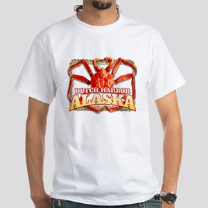 DUTCH HARBOR CRABBING White T-Shirt