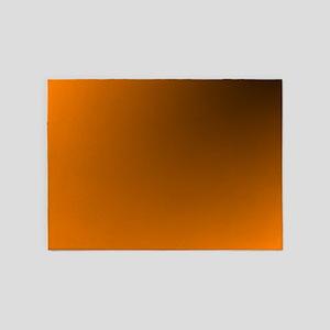 Orange and Black 5'x7'Area Rug
