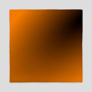 Orange and Black Queen Duvet