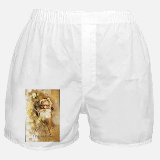 Golden Santa Claus Boxer Shorts