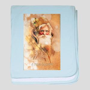 Golden Santa Claus baby blanket