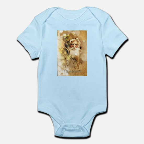 Golden Santa Claus Body Suit
