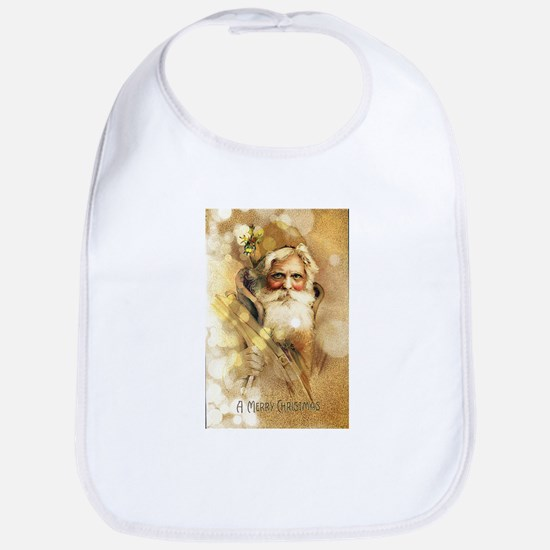 Golden Santa Claus Bib