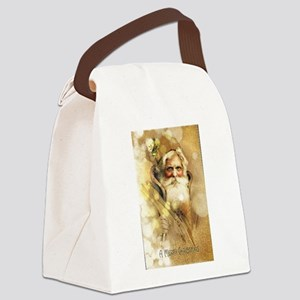 Golden Santa Claus Canvas Lunch Bag