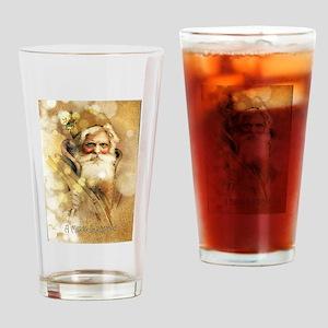 Golden Santa Claus Drinking Glass