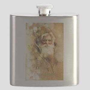 Golden Santa Claus Flask