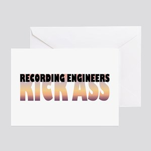 Recording Engineers Kick Ass Greeting Cards (Packa