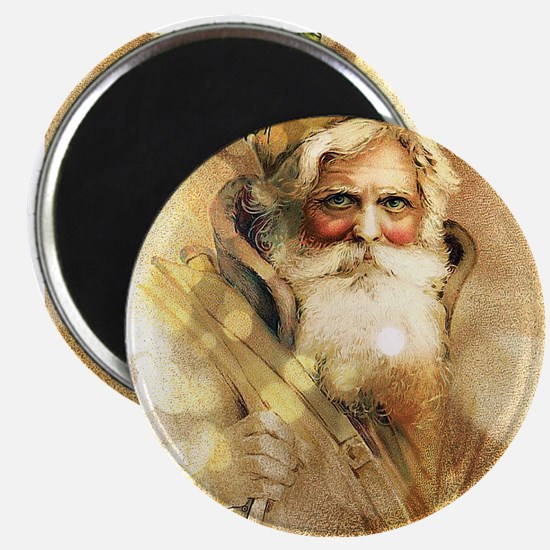 Golden Santa Claus Magnets