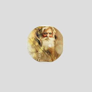 Golden Santa Claus Mini Button