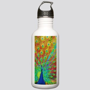 Rainbow Peacock Stainless Water Bottle 1.0L