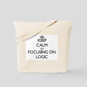 Keep Calm by focusing on Logic Tote Bag