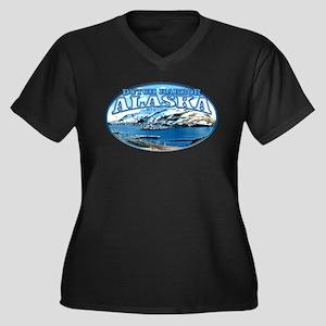 DUTCH HARBOR ALASKA Women's Plus Size V-Neck Dark