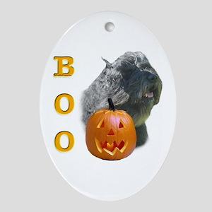 Bouvier Boo Oval Ornament