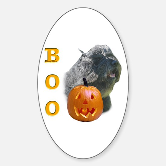 Bouvier Boo Oval Decal