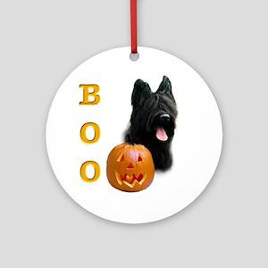Briard Boo Ornament (Round)