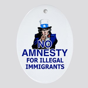 Amnesty Oval Ornament