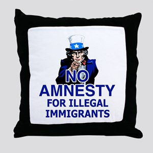 Amnesty Throw Pillow