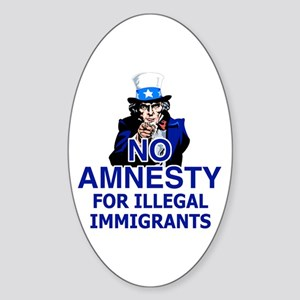 Amnesty Oval Sticker