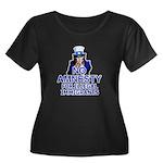 Amnesty Women's Plus Size Scoop Neck Dark T-Shirt