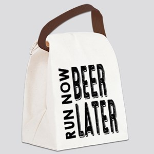Run Now Beer Later Canvas Lunch Bag