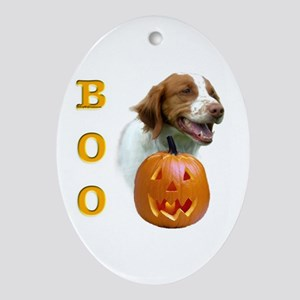Brittany Boo Oval Ornament