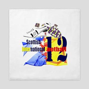 Scotland tartan football design Queen Duvet