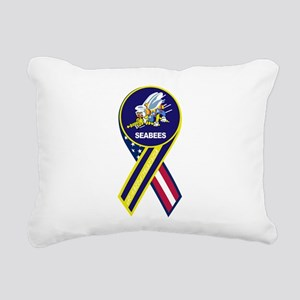seabees_navy_patch Rectangular Canvas Pillow