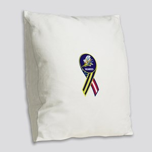seabees_navy_patch Burlap Throw Pillow