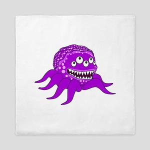 Purple Octopus Monster Queen Duvet