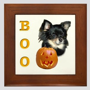 Chihuahuas Boo Framed Tile
