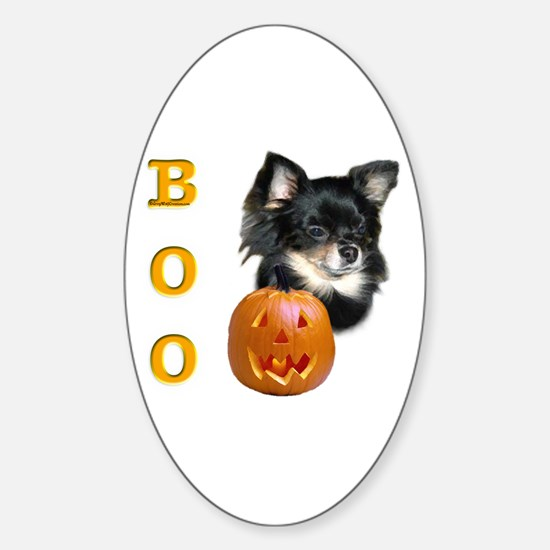 Chihuahuas Boo Oval Decal