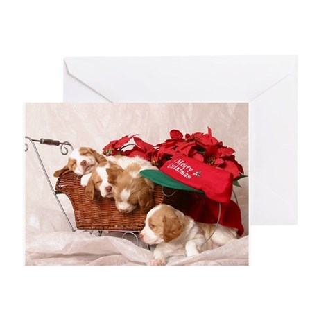 Merry Christmas Pups Greeting Cards (Pk of 10)