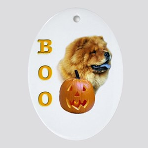 Chow Chow Boo Oval Ornament