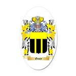 Ginty Oval Car Magnet