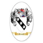 Ginnell Sticker (Oval 50 pk)