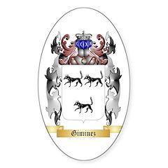 Giminez Sticker (Oval)