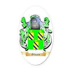 Gilquin Oval Car Magnet
