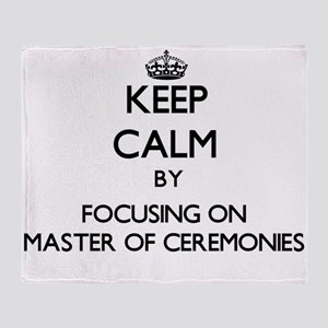 Keep Calm by focusing on Master Of C Throw Blanket
