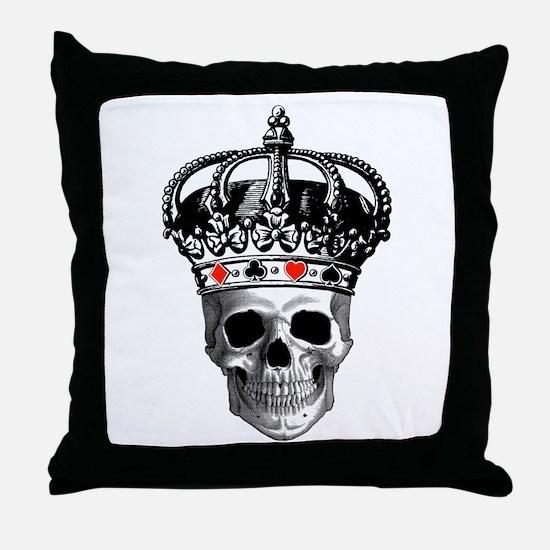 Gambling King Throw Pillow