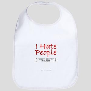 I Hate People (Included) Bib