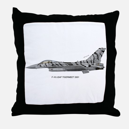 usafTiger01.jpg Throw Pillow
