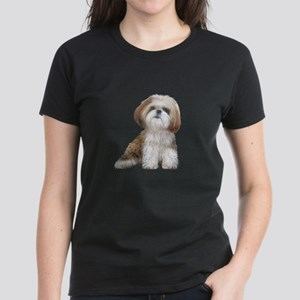 Shih Tzu (red-Wte) Women's Dark T-Shirt