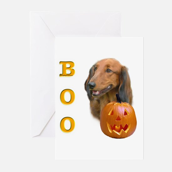 Longhair Dachshund Boo Greeting Cards (Package of