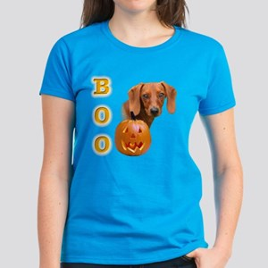 Smooth Dachshund Boo Women's Dark T-Shirt