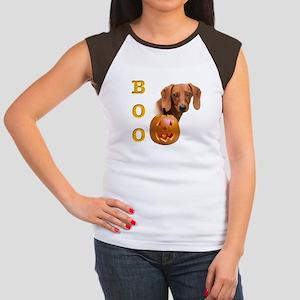 Smooth Dachshund Boo Women's Cap Sleeve T-Shirt
