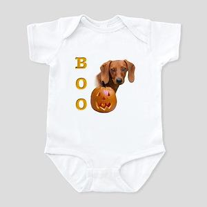 Smooth Dachshund Boo Infant Bodysuit