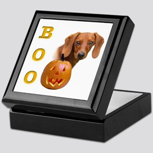 Smooth Dachshund Boo Keepsake Box